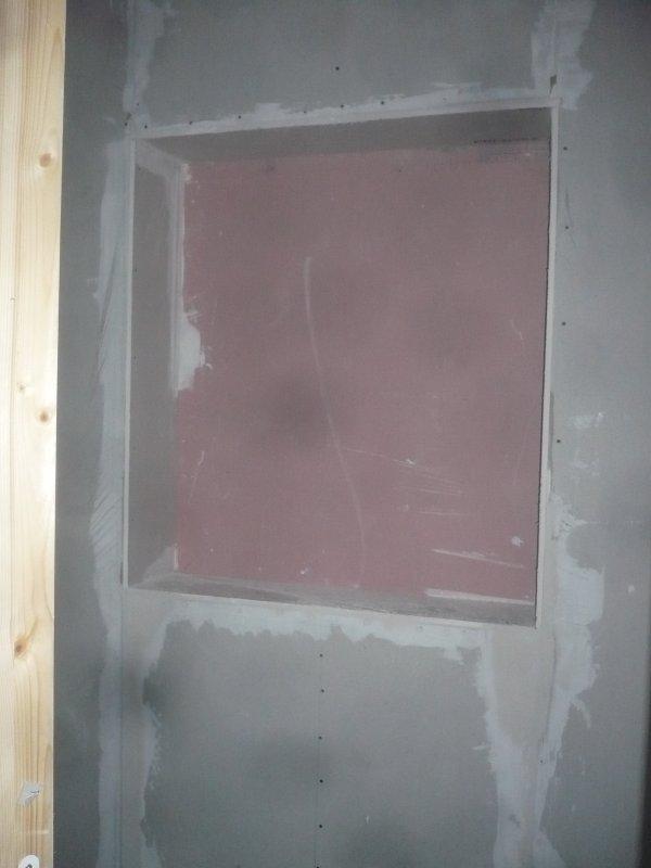 Finition du placo plus pose de porte double faux plafond for Double faux plafond